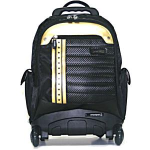 Школьный рюкзак на колесах – ранец Wheelpak Icons Black & Gold – арт. WLP2156 (для 3-5 класса, 21 литр)